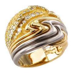 Henry Dunay Diamond Gold Platinum Ring Band