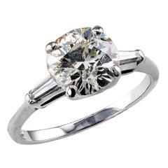 2.15 Carat Transitional Cut Diamond Solitaire Engagement Ring