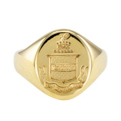 Tiffany & Co. Gold Crest Signet Ring