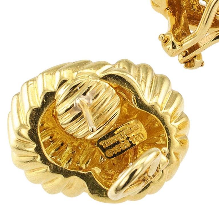 Women's Tiffany & Co. Cordis Gold Earrings For Sale