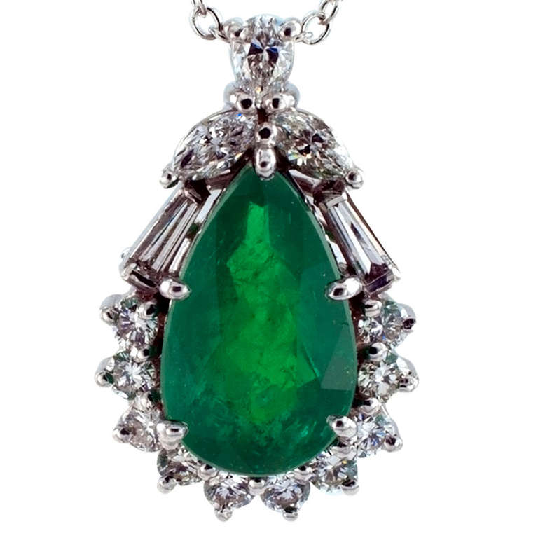 Emerald And Diamond Pendant By H Stern At 1stdibs