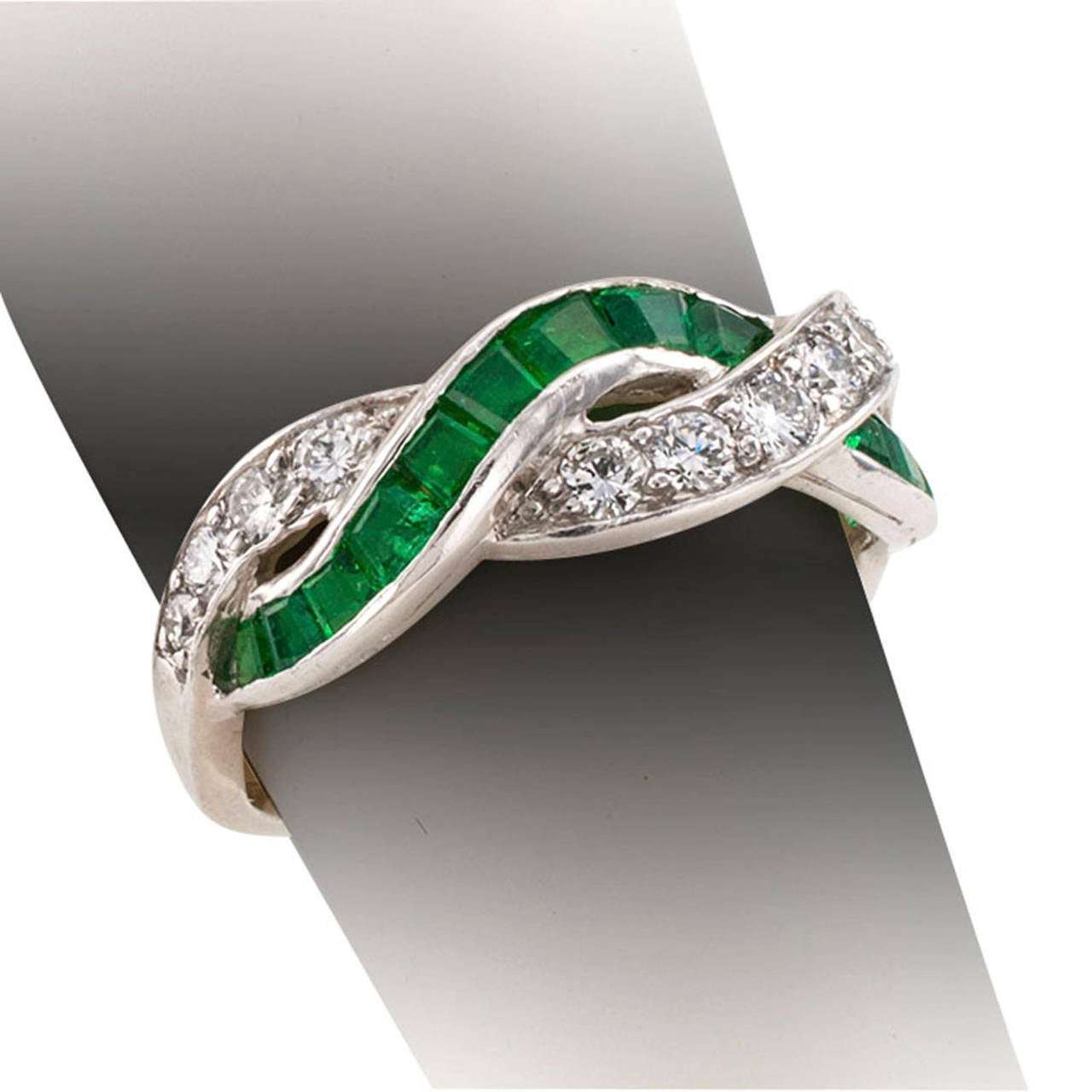 Tiffany And Co Emerald And Diamond Ring At 1stdibs