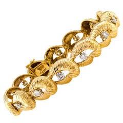 French Wander Diamond Gold Link Bracelet