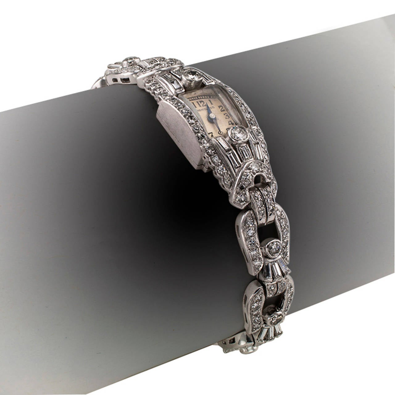 Hamilton Ladies Platinum Diamond Wristwatch 2