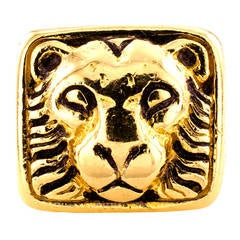 David Webb Lion Head Ring