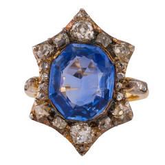 Antique Sapphire Diamond Ring