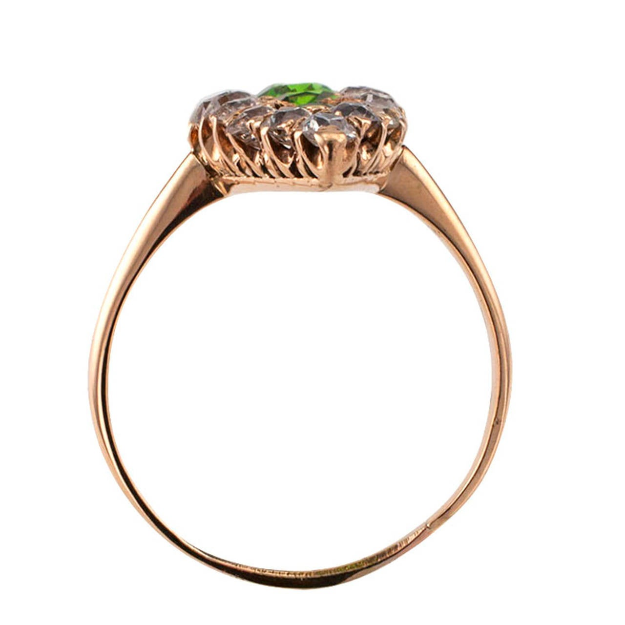 antique demantoid garnet ring at 1stdibs