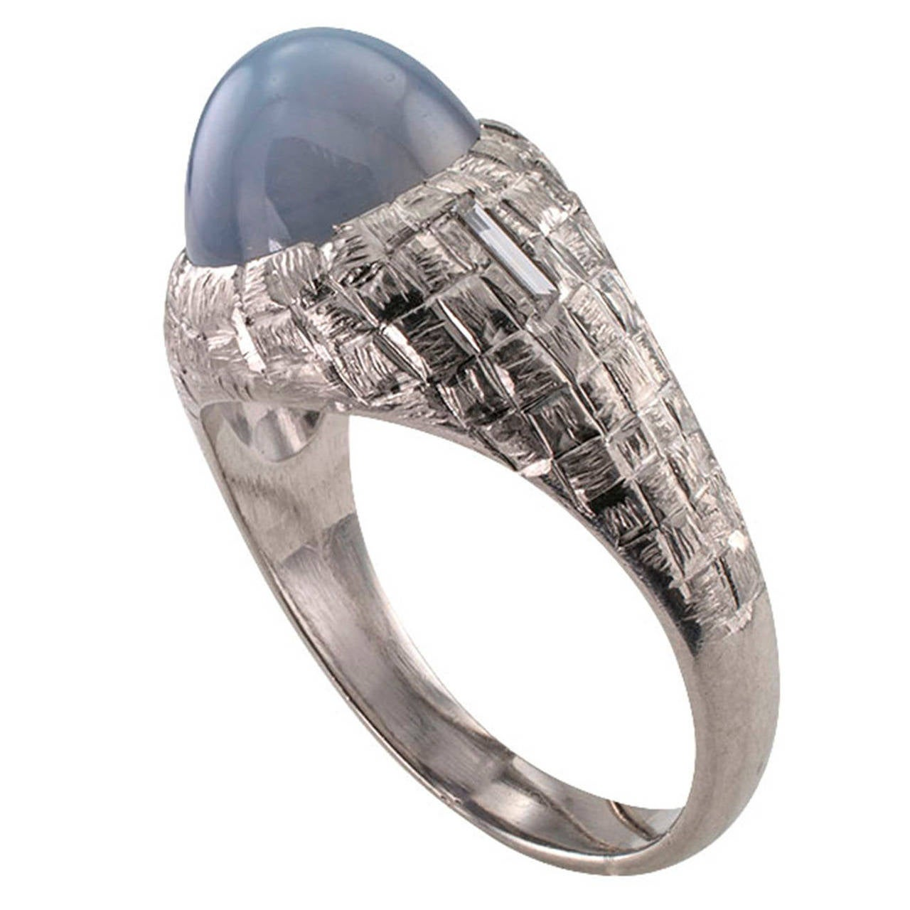 gents sapphire platinum ring at 1stdibs
