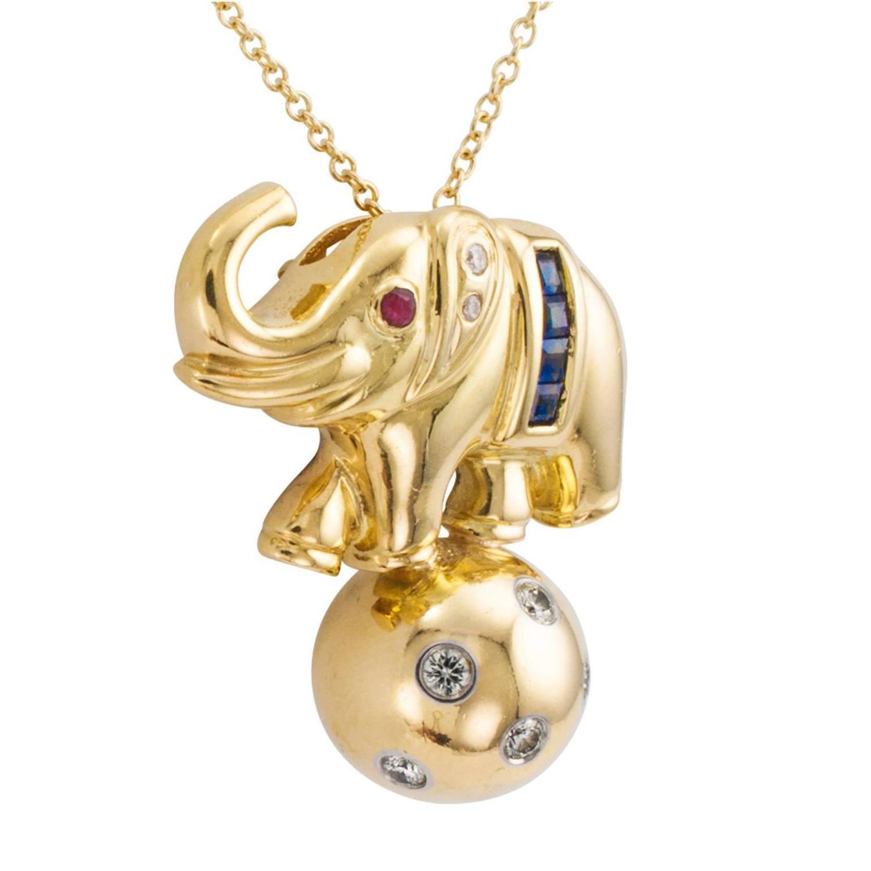 Elephant Pendant Necklace Tiffany