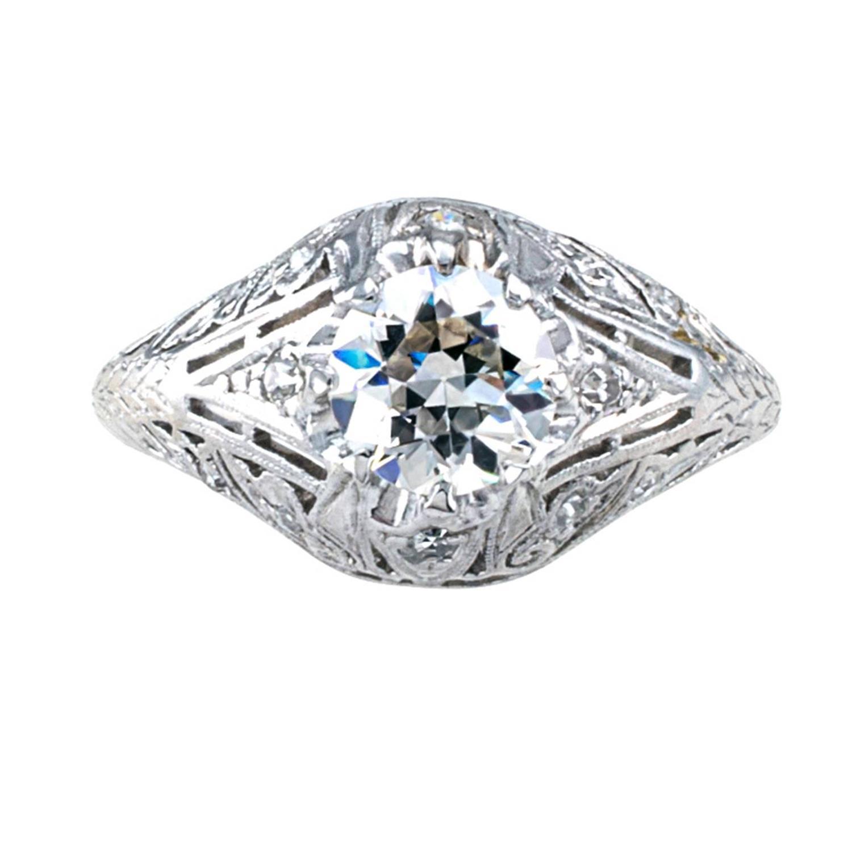 83 carat edwardian engagement ring h vs1 at 1stdibs