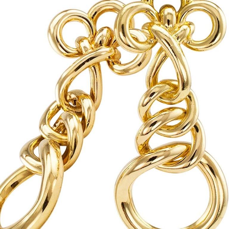 Women's 1970s Italian Gold Drop Ear Clips For Sale