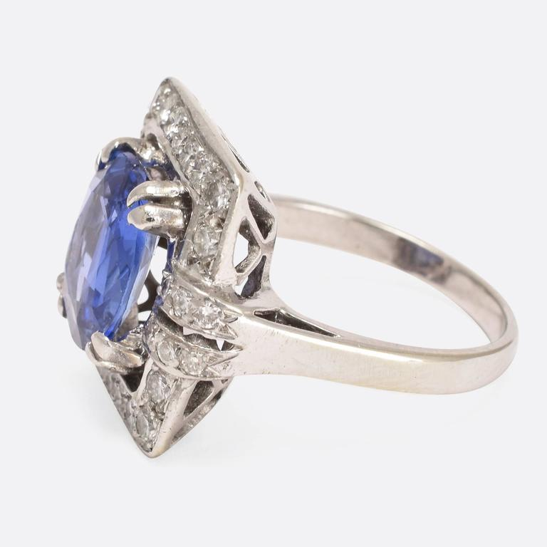 1920s deco cornflower sapphire ring at 1stdibs