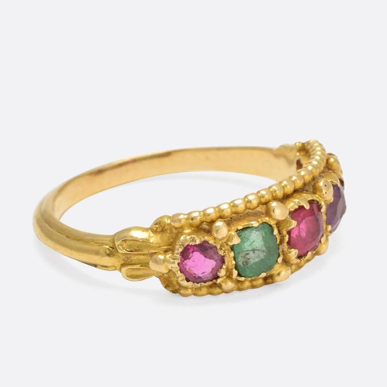Victorian Etruscan Revival Multi Gem Ring At 1stdibs