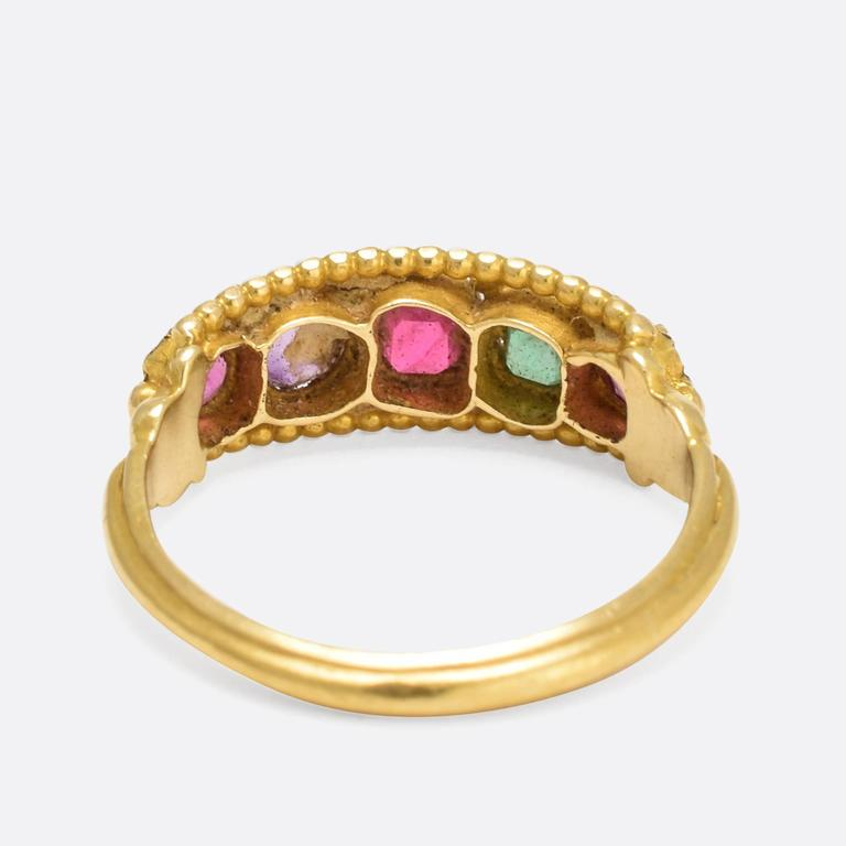 Victorian Etruscan Revival Multi Gem Ring At 1stdibs