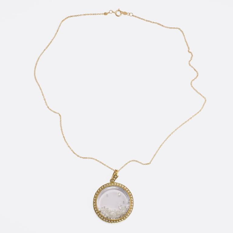 Women's Antique Victorian Pearl Diamond Gold Shaker Locket For Sale