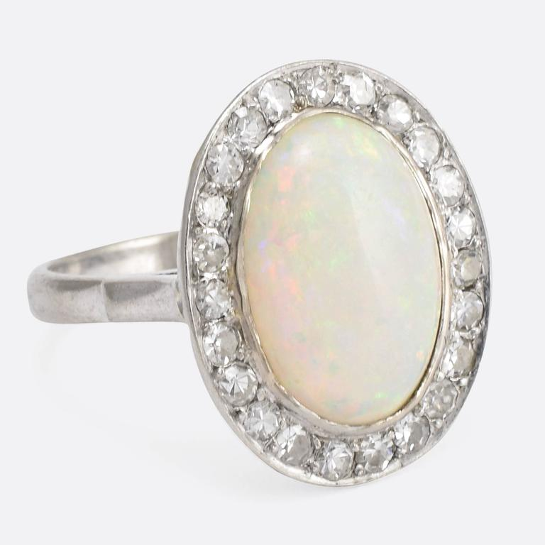 rings vintage yellow pink gold or diamonds white ring platinum gift opal pin rose inspired anniversary natural engagement halo