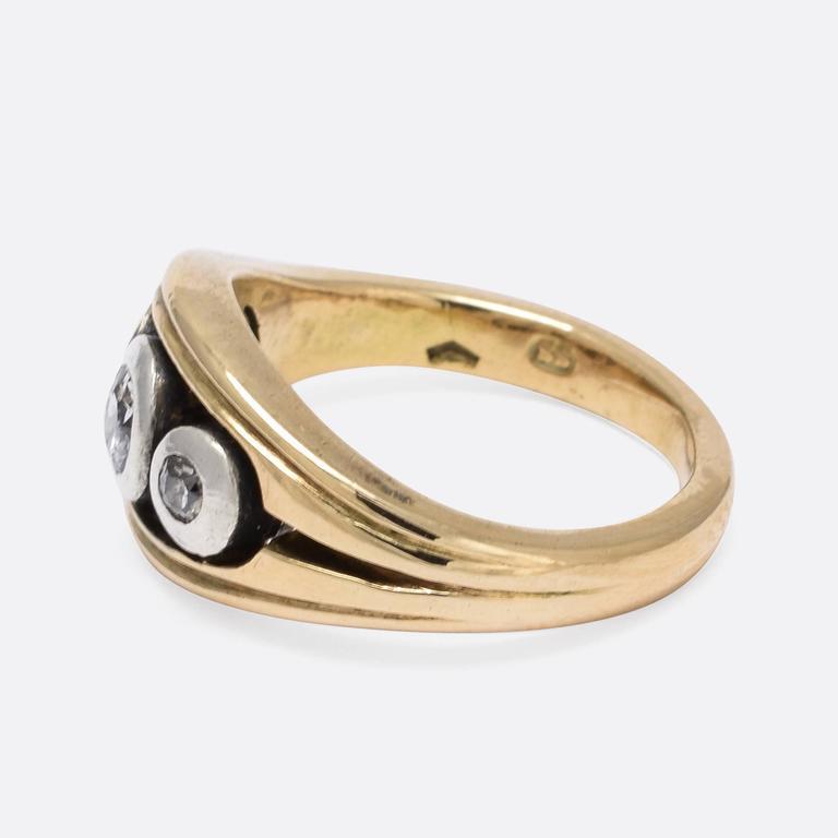 Old Cut Diamond Trilogy Rings