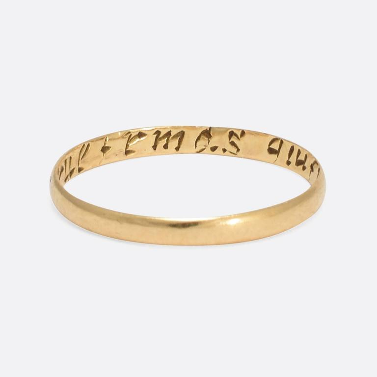 antique georgian quot a true friend s gift quot gold posy ring at