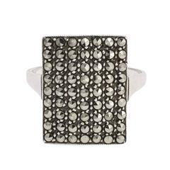 Art Deco Marcasite Pavé Panel Ring