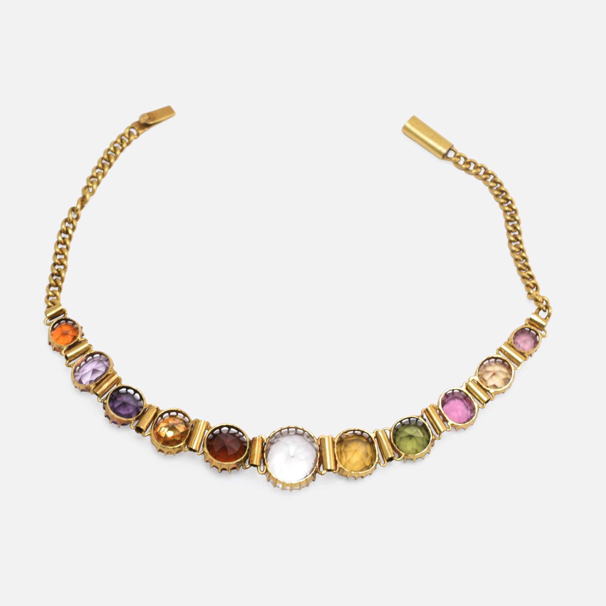 org victorian gem link bracelet gold id gemstone multi necklace antique at j bracelets jewelry