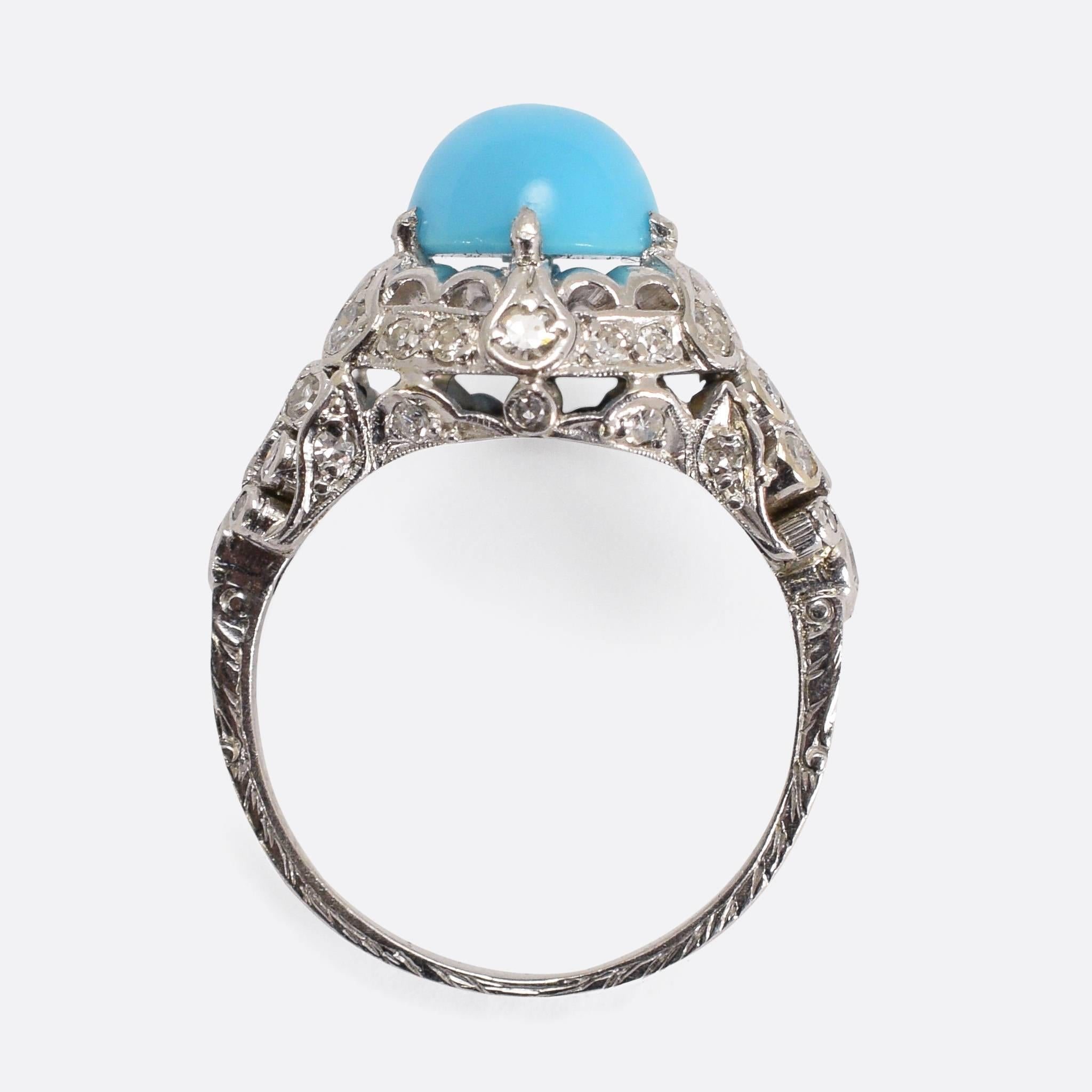 gold cocktail products turquoise soho enfield ring the estate oversize black diamonds white jewelers diamond fine