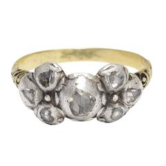 Antique 17th Century Portuguese Diamond Bow Ring