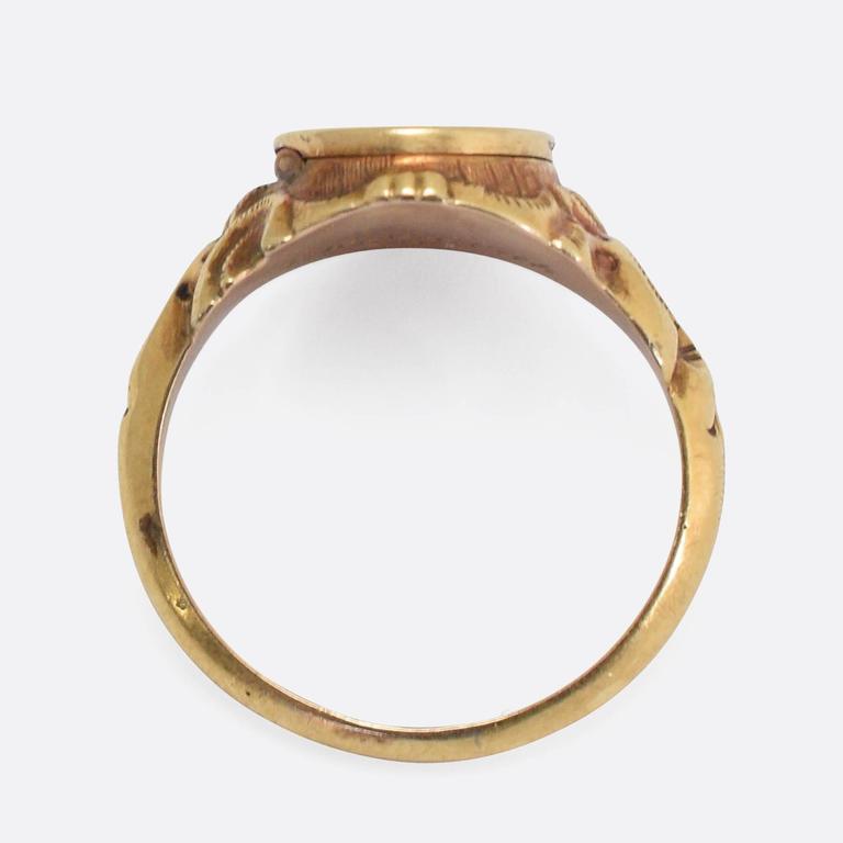 Victorian Signet Locket Rings