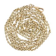 Antique Victorian Gold Guard Chain