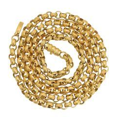 Antique Georgian Fancy Link Gold Guard Chain