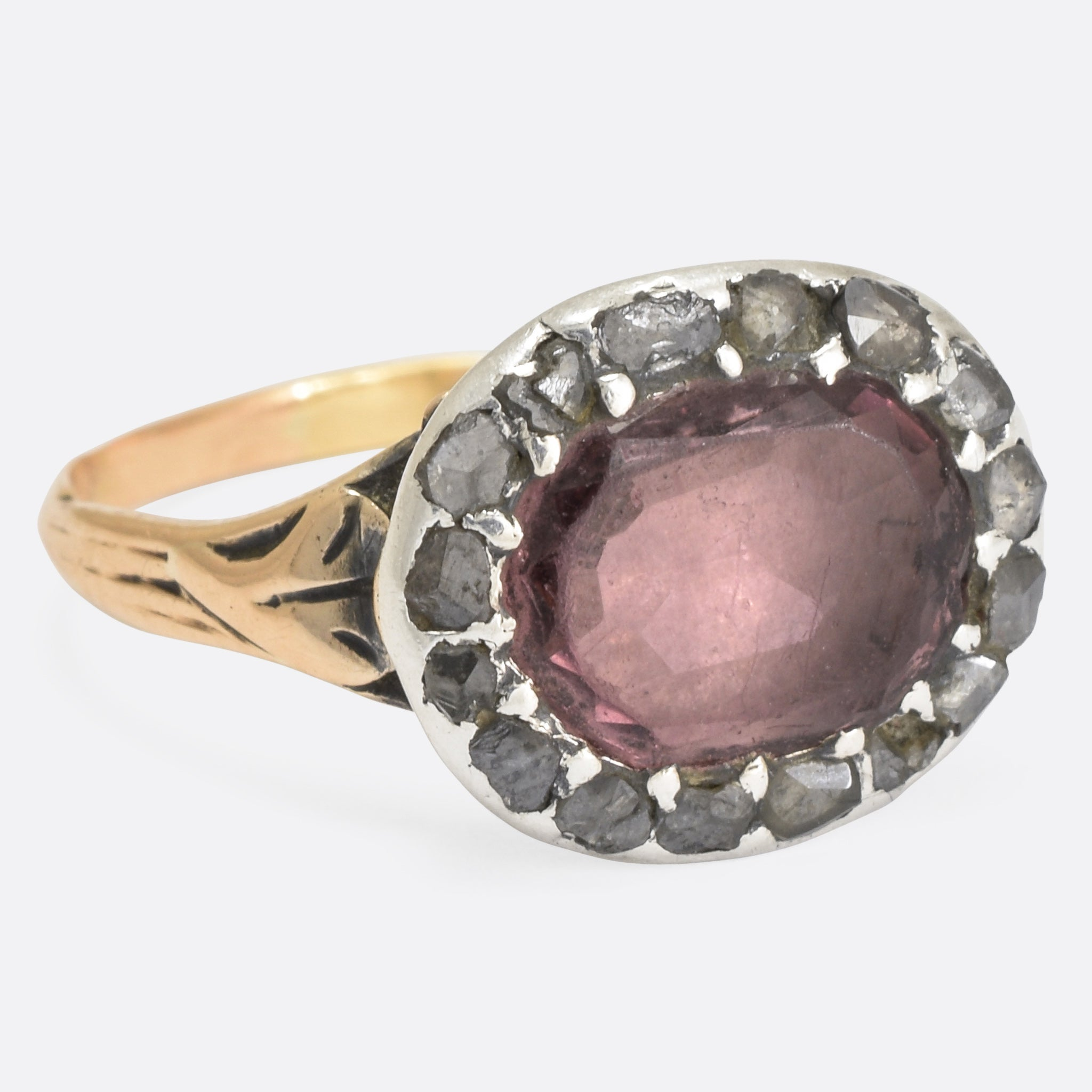 sterling gold engagement amethyst yellow guardian in amethist and silver ring rings keith jack angel
