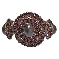 Oversized Georgian Garnet Carbuncle Bracelet