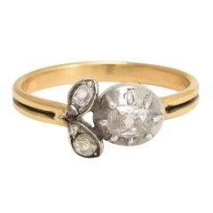 Antique Georgian Diamond Flower Ring