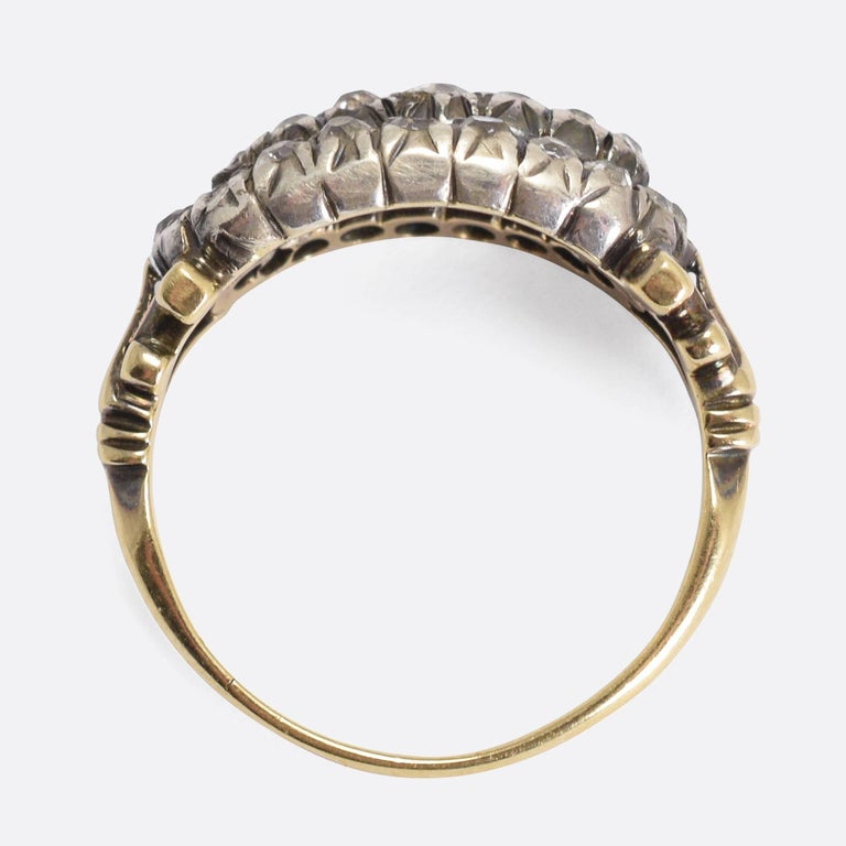 antique georgian cut cluster ring at 1stdibs