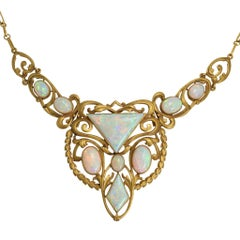 Antique Art Nouveau Opal Necklace