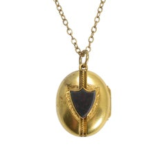 Victorian Bloodstone Shield Locket