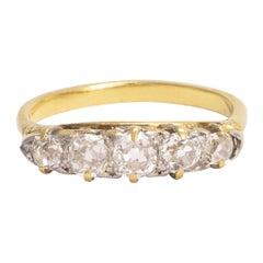 Mid-Victorian Old Cut Diamond Five-Stone Band