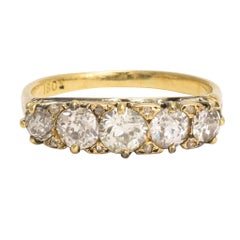 Mid-Victorian 1.75 Carat Diamond Five-Stone Ring