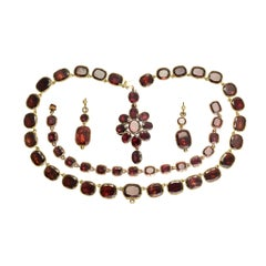 18th Century Flat-Cut Garnet Suite