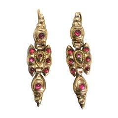 1700s Portuguese Garnet Earrings