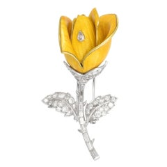 "1950s Boucheron ""Yellow Rose"" Brooch"