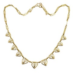 Antique French Openwork Gold Necklace