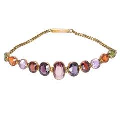 Victorian Multi-Gem Harlequin Bracelet