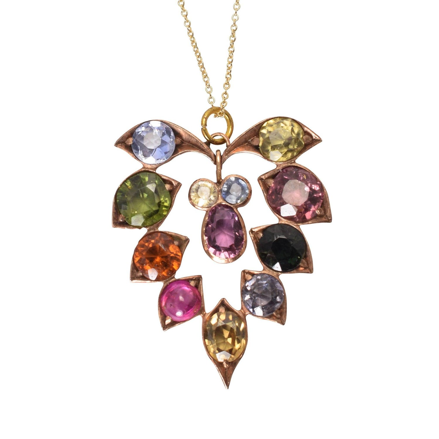 Bvlgari allegra multi gem pendant necklace at 1stdibs victorian multi gem harlequin pendant aloadofball Image collections