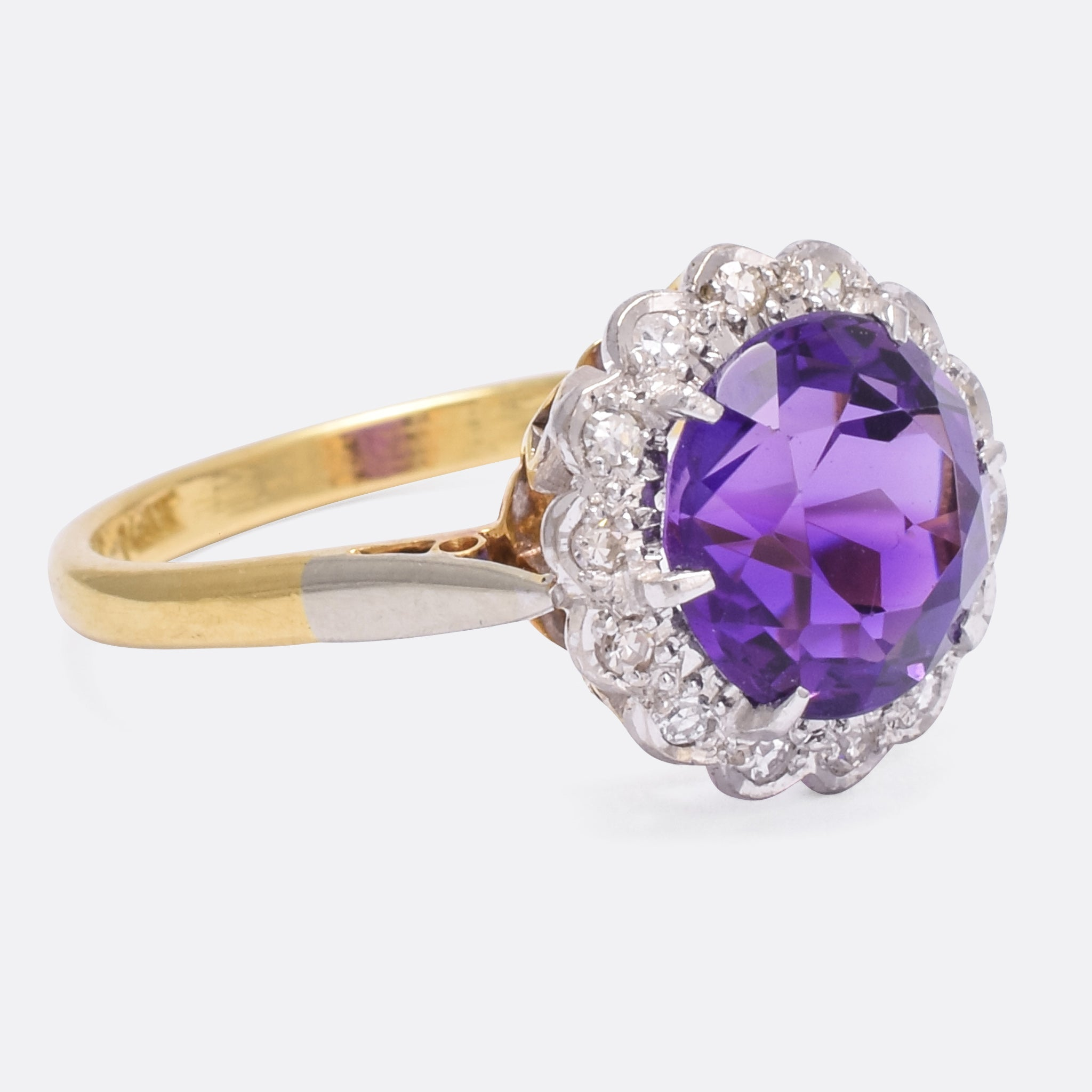 ring diamond cut amethist today shipping miadora tdw g product halo and cushion engagement silver sterling watches free rings jewelry h green overstock amethyst cocktail