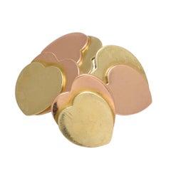 Vintage Two-Tone 18k Gold Heart Cufflinks