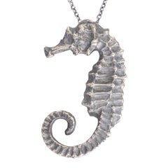 BL Bespoke Sterling Silver Seahorse Pendant Necklace