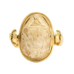 Antique Egyptian Revival Scarab Spinner Ring