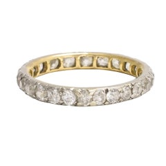 Antique Early Victorian 1.25 Carat Diamond Eternity Ring