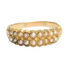Antique Georgian Pearl Double-Row Ring