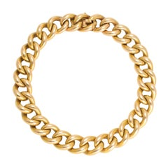 Antique Victorian 15 Karat Gold Curb-Link Bracelet